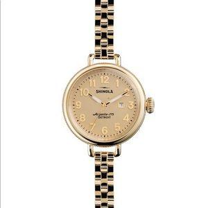 Shinola Gold-Tone Birdy Watch (Like New)